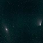 Panstarrs och Andromedagalaxen
