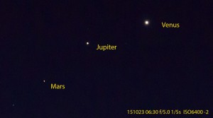 Mars Jupiter och Venus